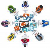 stock photo of  media  - Media Social Media Social Network Internet Technology Online Concept - JPG