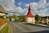 image of chapels  - Sunday afternoon at Czech village near the chapel - JPG