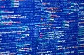picture of binary code  - Programming abstract  - JPG