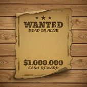 Wanted, dead or alive. poster