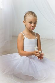 picture of fairy tail  - Little cute ballerina with white bird - JPG